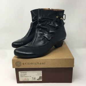 Vintage Eric Michael Black Leather Disco Booties